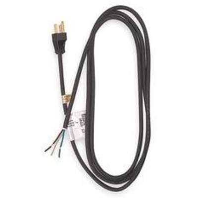 8 ft. Power Cord with SJO NEC Cord Designation, 14/3 Gauge/Conductor, and 15 Max. Amps