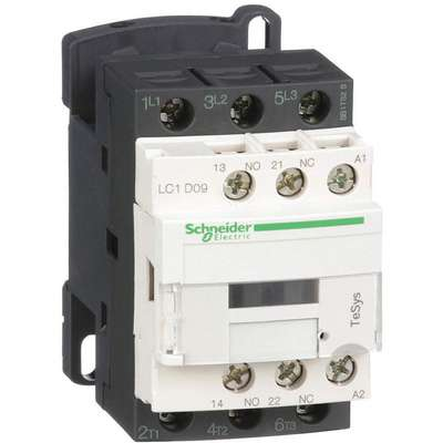 480VAC IEC Magnetic Contactor; No. of Poles 3, Reversing: No, 9 Full Load Amps-Inductive