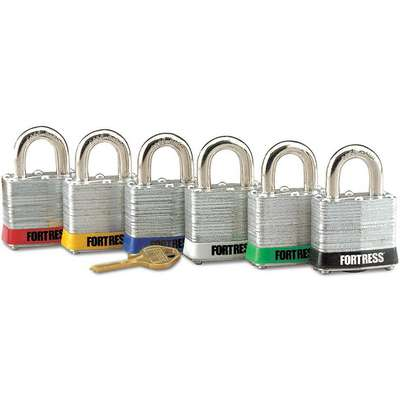 Green Lockout Padlock, Different Key Type, Steel Body Material, 1 EA