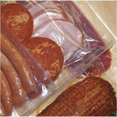 "Vacuum Sealer Bag, 3 mil, Clear Low Density Polyethylene (LDPE), Nylon, Width 6"", Length 8-1/2"""