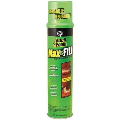 Multipurpose/Construction Insulating Spray Foam Sealant, 24 oz. Aerosol Can, Tan