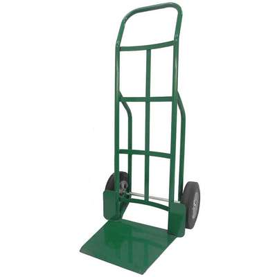 "Hand Truck, 800 lb. Load Capacity, Continuous Frame Flow-Back, 16"" Noseplate Width"