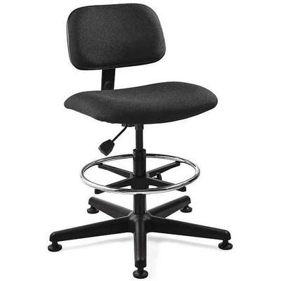 "Black Fabric Task Chair 10"" Back Height, Arm Style: No Arm"