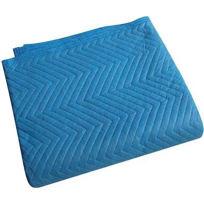 "Cotton/Poly Woven Quilted Moving Pad, Blue, 72""L x 80""W"