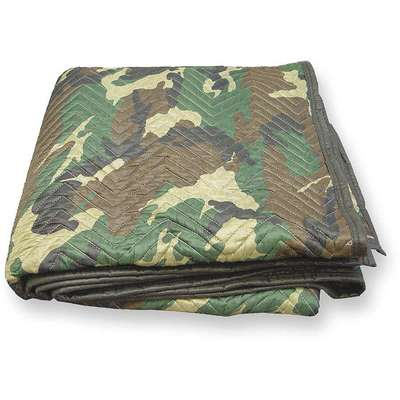 "Cotton/Poly Blend Woven Quilted Moving Pad, Camo, 72""L x 80""W"