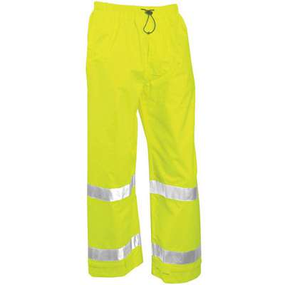Rain Pants, High Visibility: Yes, ANSI Class: Class E, Polyester, Polyurethane, 5XL, Yellow\Green