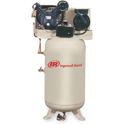 3 Phase - Electrical Vertical Tank Mounted 5.00HP - Air Compressor Stationary Air Compressor, 80 gal