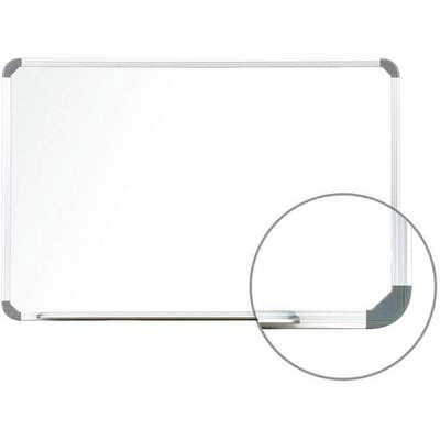 "Gloss-Finish Steel Dry Erase Board, Wall Mounted, 18""H x 24""W, White"