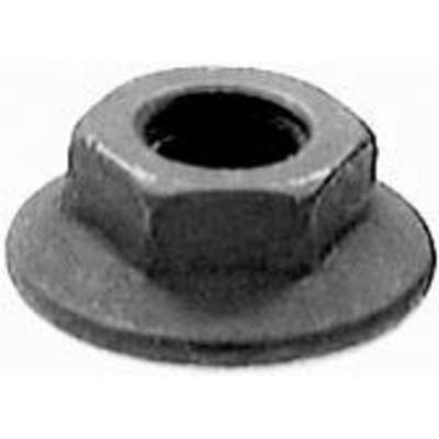 Flange Nut, M6-1.00 Steel, Black Phosphate & Oil, 100 PK
