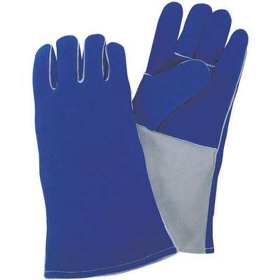 "Welding Gloves, Gauntlet Cuff, M, 13-1/2"" Glove Length, Deerskin Leather Palm Material"