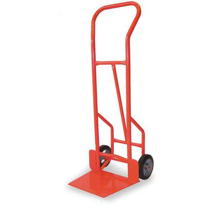 "Hand Truck, 900 lb. Load Capacity, Continuous Frame Flow-Back, 17-1/2"" Noseplate Width"