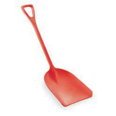 Hygienic Shovel, Red, 14 x 17 In, 42 In L