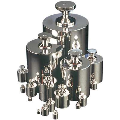 50g Calibration Weight, Cylinder Style, Class 4, Non-Accredited, Alloy 8 Stainless Steel