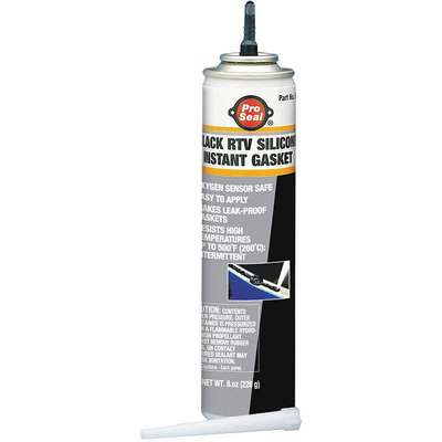 Oil-Resistant RTV Silicone Gasket Maker, -75 to 500F Temp. Range, Full Cure 24 hr., Black