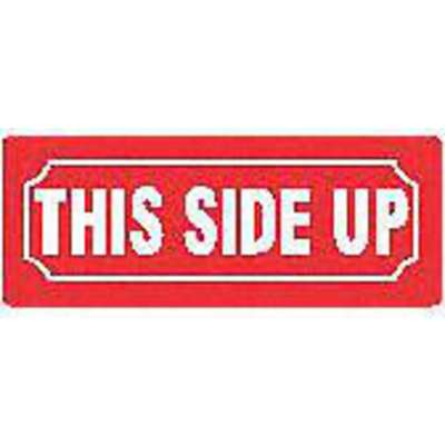 "Shipping Labels, This Side Up, Paper, 3-1/8"" Width, 1-1/8"" Height, PK 500"