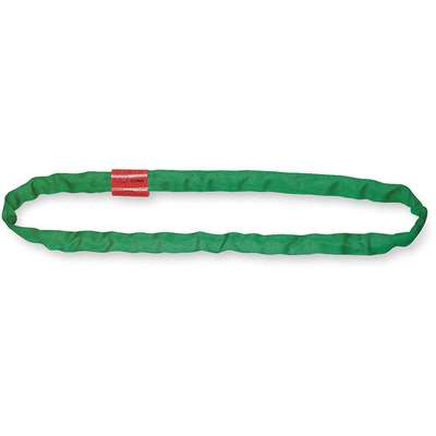 "10 ft. Endless - Type 5 Round Sling, 7/8"" Diameter, Color Code: Green, Polyester"