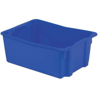 "Stack and Nest Container, Blue, 10-1/2""H x 26-1/8""L x 18-3/4""W, 1EA"