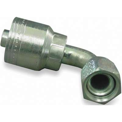 Eaton Weatherhead Crimp Fitting, 08Z-670, 90° Elbow SAE 37° JIC Female Swivel, 1/2 in. x 5/8 in.