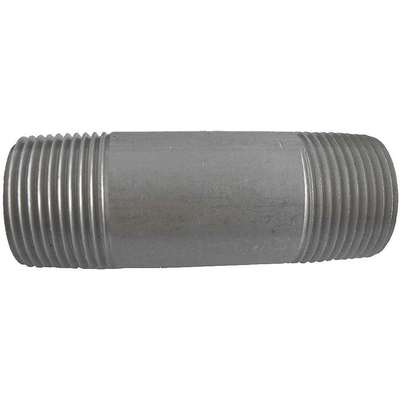 "1/2"" x 4"" 316 Stainless Steel Nipple, Pipe Schedule 80, Threaded on Both Ends"