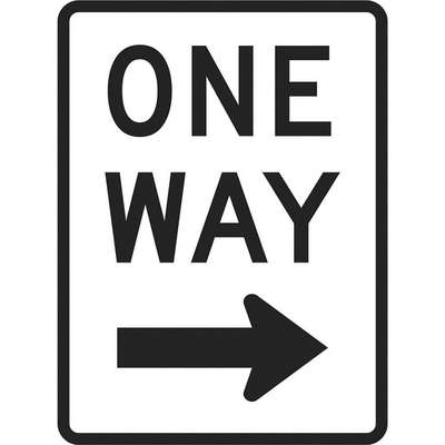 Diamond Grade Aluminum One Way Traffic Sign; 18 in. H x 12 in. W