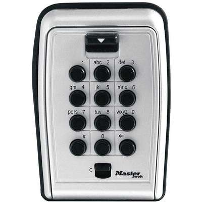 Lock Box, Combination, 7 Key Capacity, Mounting Type: Surface