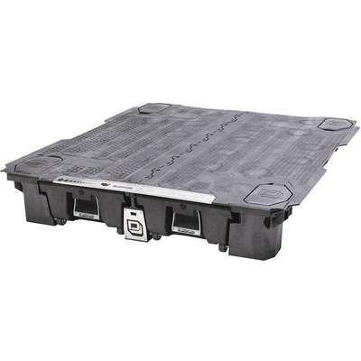 "Black Cargo Van Drawer Storage System, HDPE, Steel, 71"" Width, 75-1/4"" Depth, Number of Drawers: 2"