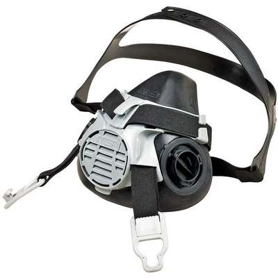 MSA Half Mask Respirator, Respirator Connection Type: Bayonet, Mask Size: L