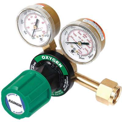 250-150-540 Series Gas Regulator, 4 to 80 psi, Oxygen