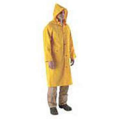 Rain Coat, High Visibility: No, ANSI Class: Unrated, PVC, XL, Yellow