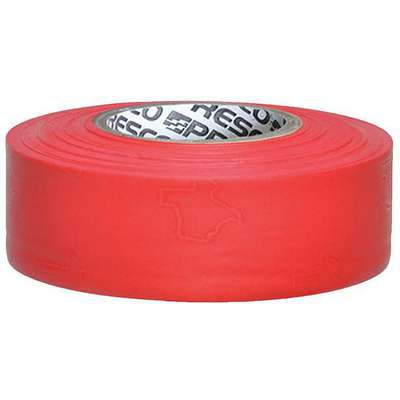 Presco Products Co. PVC Texas Flagging Tape; 300 ft. L x 1-3/16 in. W, 2.5 mil Thick, Red