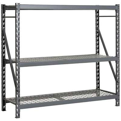 "Starter Bulk Storage Rack with Galvanized Wire Decking and 3 Shelves, 96""W x 36""D x 72""H"