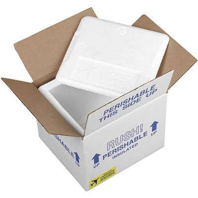 "Insulated Shipping Kit, Inside Width 9-3/4"", Inside Length 12"", Inside Depth 11"", 2 PK"