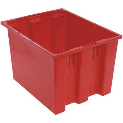 "Stack and Nest Container, Red, 13""H x 19-1/2""L x 15-1/2""W, 1EA"