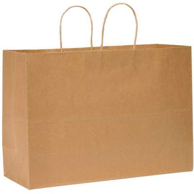 "Flat Brown Shopping Bag 6""D x 16""W x 12""L"