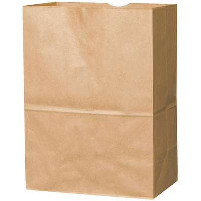 "Flat Brown Grocery Bag 6-3/4""D x 10-1/8""W x 14-3/8""L"