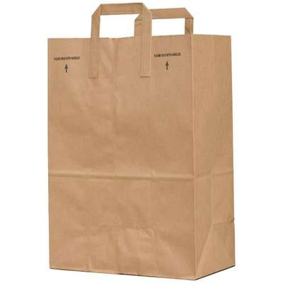 "Flat Brown Grocery Bag 7""D x 7""W x 17""L"