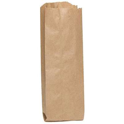 "Pinched Brown Liquor Bag 1-1/4""D x 4""W x 10""L"