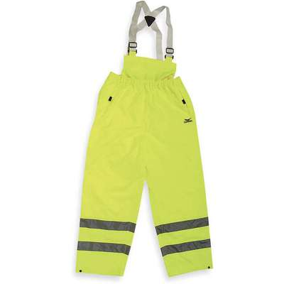 Yellow/Green, Hi-Visibility Rain Bib Overall, 2XL, Polyurethane, Men's, High Visibility Yes