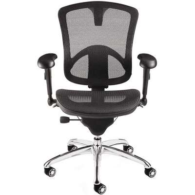 "Black Mesh Executive Chair 23"" Back Height, Arm Style: Adjustable"