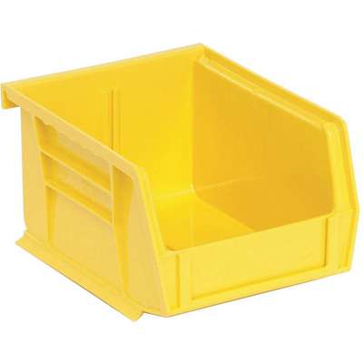 "Hang and Stack Bin, Yellow, 5-3/8"" Outside Length, 4-1/8"" Outside Width, 3"" Outside Height"