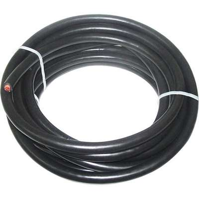 25 ft. Neoprene Welding Cable with 1/0 Wire Size and Max. Amps of 150, Black