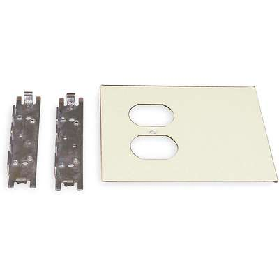Steel Cover Plate For Use With 4047 Raceway, Ivory