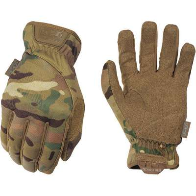 "Tactical Glove, S, MultiCam Camouflage, Slip-On Cuff, 10"" Length, Elastic Closure Type, 1 PR"