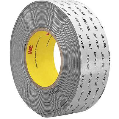 "Acrylic Foam Double Sided VHB Foam Tape, Acrylic Adhesive, 62.00 mil Thick, 1"" X 18 yd., Gray"