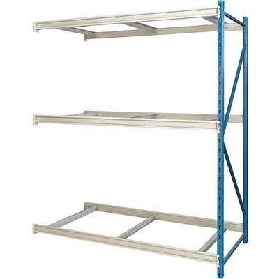 "Add-On Bulk Storage Rack with None Decking and 3 Shelves, 96""W x 24""D x 87""H"