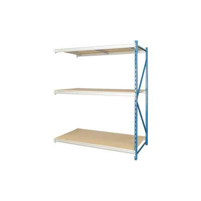 "Add-On Bulk Storage Rack with Particle Board Decking and 3 Shelves, 48""W x 24""D x 123""H"