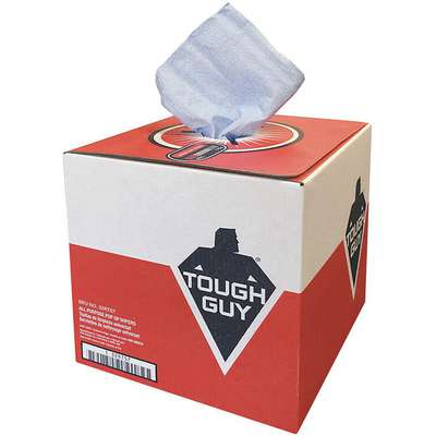 "Tough Guy G40, Dry Wipe Roll, 9"" x 12"", Number of Sheets 200, Blue"