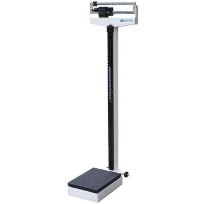 "Mechanical Physician Scale, 200kg/450 lb. Capacity, 10-3/4"" W x 21"" D"