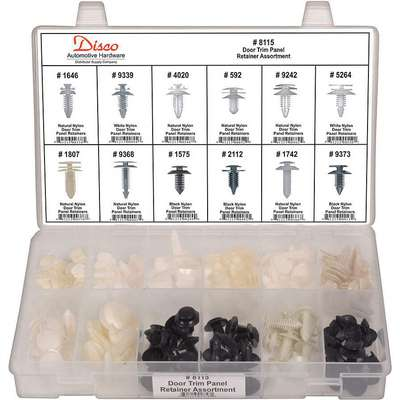 GM & Ford Panel Retainer Assortment, 120 Pieces