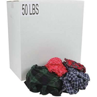 Assorted Flannel, Size: Varies, 50 lb. Box
